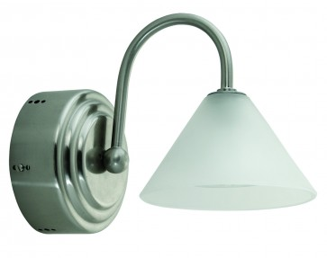 Small One Light Wall Sconce with Medium Glass Domus Lighting