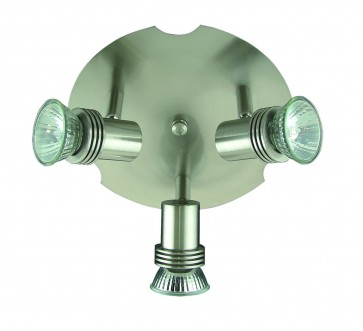 Small Three Light Round Ceiling Adjustable Spotlight Domus Lighting