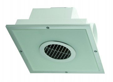 Square Exhaust Fan with Fluorescent Light Domus Lighting