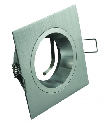 Square Fixed Recessed Downlight in Brushed Aluminum Domus Lighting