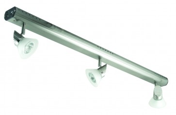 Three Light Adjustable Bar Ceiling Spotlight with Step Glass Domus Lighting