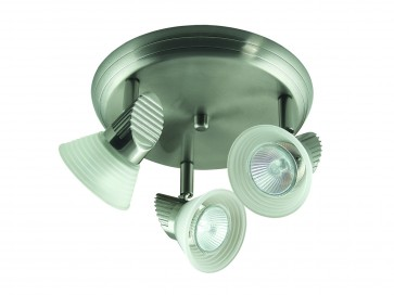 Three Light Adjustable Ceiling Spotlight with Step Glass Domus Lighting