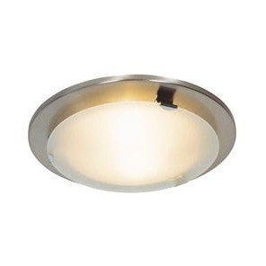 Three Light Flush Mount with Frosted Glass Domus Lighting