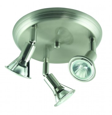 Three Light Large Round Plate Ceiling Spotlight Domus Lighting