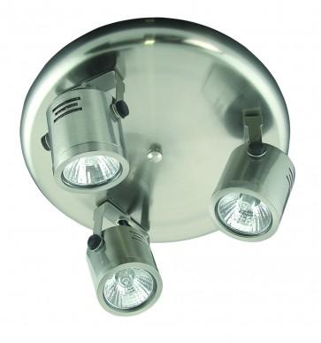 Three Light Round Ceiling Spotlight Cylinder Domus Lighting