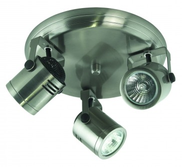 Three Light Small Round Plate Ceiling Spotlight Domus Lighting