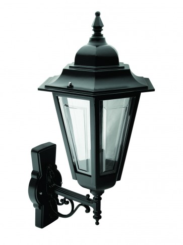 Turin Outdoor Wall Lantern in Clear Glass Domus Lighting