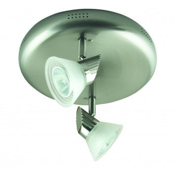 Two Light Adjustable Ceiling Spotlight with Step Glass Domus Lighting