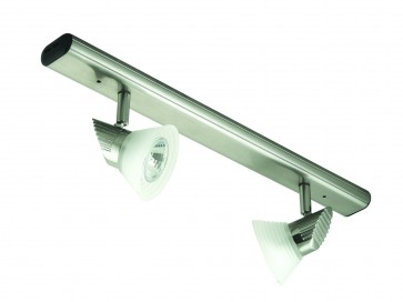 Two Light Bar Ceiling Spotlight with Step Glass Domus Lighting
