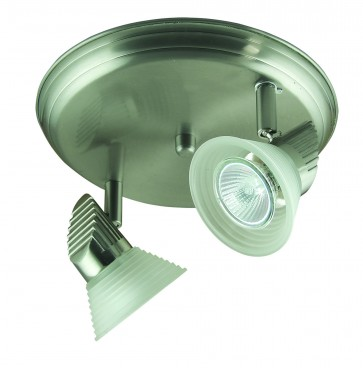 Two Light Ceiling Spotlight with Step Glass Domus Lighting