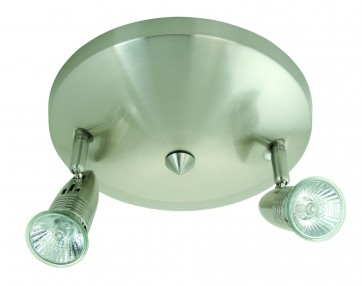 Two Light Round Ceiling Spotlight Domus Lighting