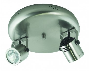 Two Light Small Round Plate Ceiling Spotlight with Transformer Domus Lighting