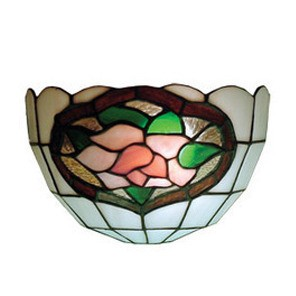 Wall Sconce with Pink and Green Floral and Leaves Design Domus Lighting