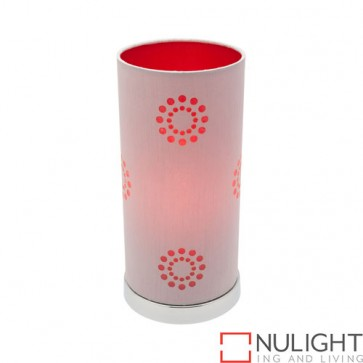 Fabian Table Lamp Silver Red COU