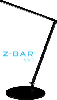 Gen 3 Z-Bar Solo LED desk lamp in black