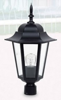 Byron Small Post Top with PT Coach Light in Australian Powder Coat Hermosa Lighting