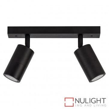 Black 2 Light Bar 2X 5W Gu10 Led Warm White HAV