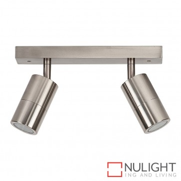 Titanium Coloured Aluminium 2 Light Bar 2X 5W Gu10 Led Warm White HAV