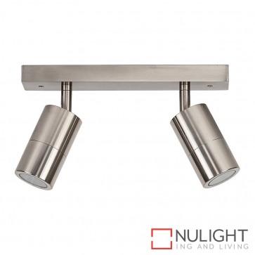 Titanium Coloured Aluminium 2 Light Bar 2X 5W Gu10 Led Cool White HAV