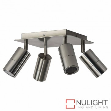 Titanium Coloured Aluminium 4 Light Square 4X 5W Gu10 Led Warm White HAV