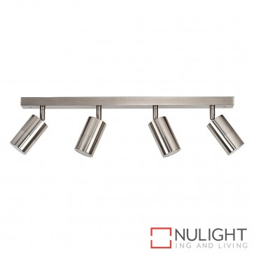 Titanium Coloured Aluminium 4 Light Bar 4X 5W Gu10 Led Cool White HAV