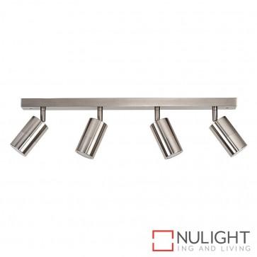 Titanium Coloured Aluminium 4 Light Bar 4X 5W Gu10 Led Warm White HAV