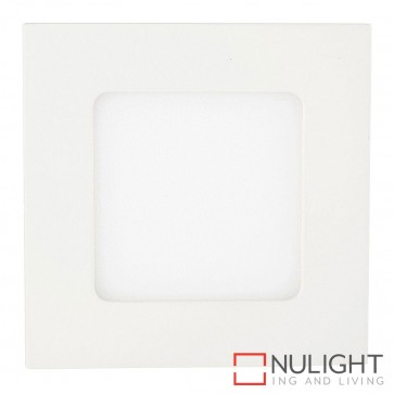 White Square Recessed Panel Light 4W 240V Led Warm White HAV