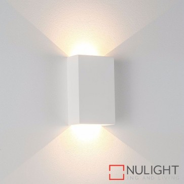 Gallery Square Plaster Surface Mounted Wall Light 2 X 3W 240V Led Cool White HAV