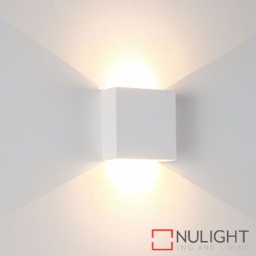 Candy Square Plaster Surface Mounted Wall Light 2 X 3W 240V Led Warm White HAV