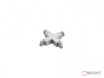 X Connector To Suit Three Circuit Track Left Hand Feed In White VBL