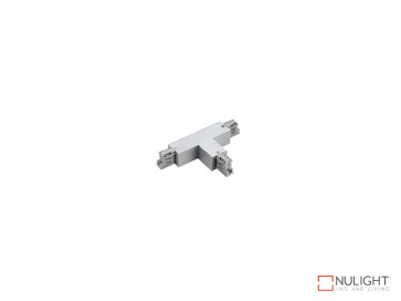 T Connector To Suit Three Circuit Track Left Hand Feed In White VBL