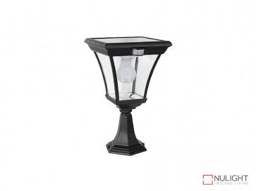 6.2W Bright White Solar Pillar Light In Black With Motion Sensor VBSLDPIL0008A6-2WPIR VBL
