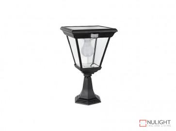 6.2W Bright White Solar Pillar Light In Black With Motion Sensor VBSLDPIL0018A6-2WPIR VBL