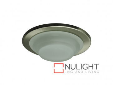 Vibe 35W Low Voltage Stepped Glass Bathroom Downlight In Satin Chrome VBL