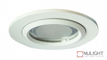 Vida 100 Round Glass Covered Downlight White ORI