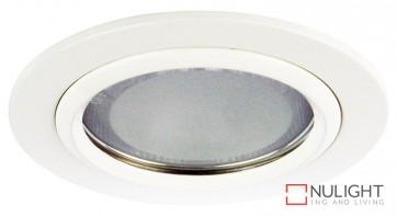 Vida 120 Round Glass Covered Downlight White ORI