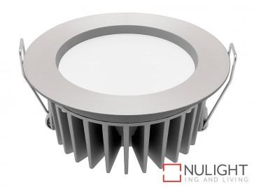 Optica 12 Watt LED Downlight - 3000K Aluminium MEC