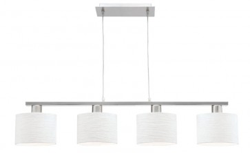 Allure Four Light Pendant in Brushed Chrome Mercator Lighting