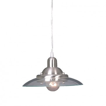 Aquila One Light Pendant in Satin Nickel Mercator Lighting