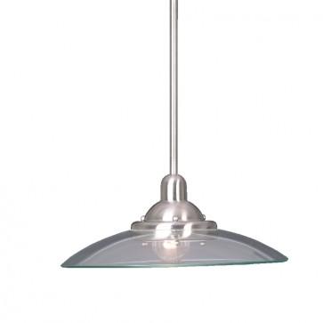 Aquila One Light Rod Pendant in Satin Nickel Mercator Lighting
