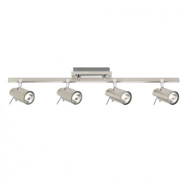 Bronte Four Light Spotlight in Brushed Chrome Mercator Lighting