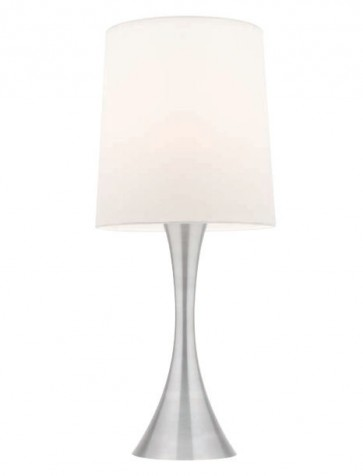 Credo One Light Touch Table Lamp in White Mercator Lighting