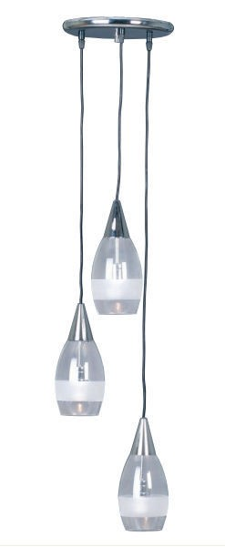 Halo Three Light Drum Flex Pendant in Chrome Mercator Lighting