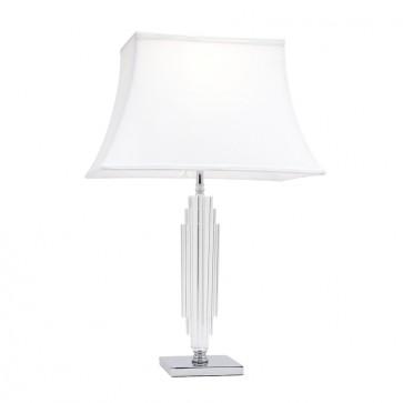 Hero One Light Table Lamp with K9 Base in Chrome Mercator Lighting