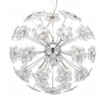 Perla 15 Light Crystal Pendant in Chrome Mercator Lighting