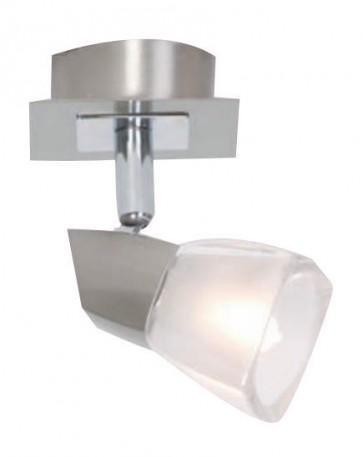 Presto One Light Bar Spotlight in Brushed Chrome Mercator Lighting
