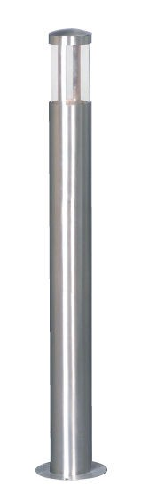 Summit One Light Bollard in Stained Steel Mercator Lighting