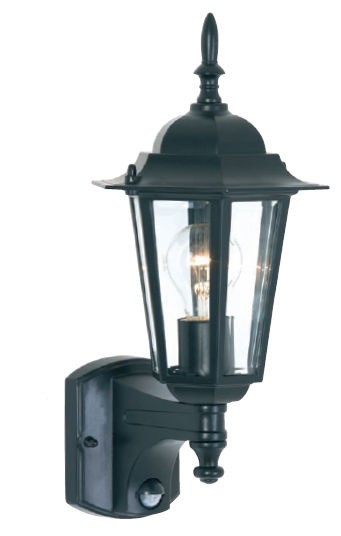 Tilbury One Light Exterior Wall Lantern with Sensor Mercator Lighting