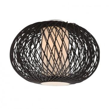 Virgo Close to Ceiling One Light DIY in Chocolate Bamboo Mercator Lighting
