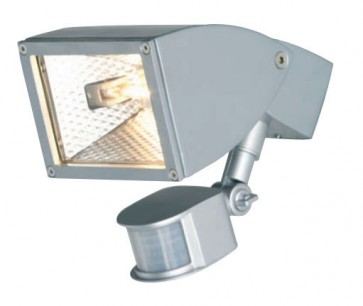 Zone One Light Halogen Floodlight with Sensor Mercator Lighting